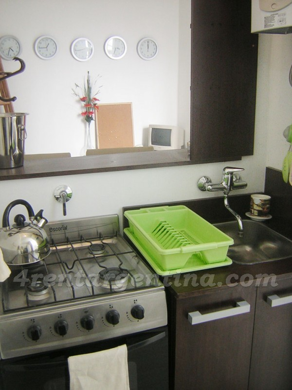 Sarmiento and Cerrito, apartment fully equipped