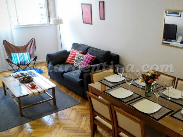 Arenales and Azcuenga III: Furnished apartment in Recoleta