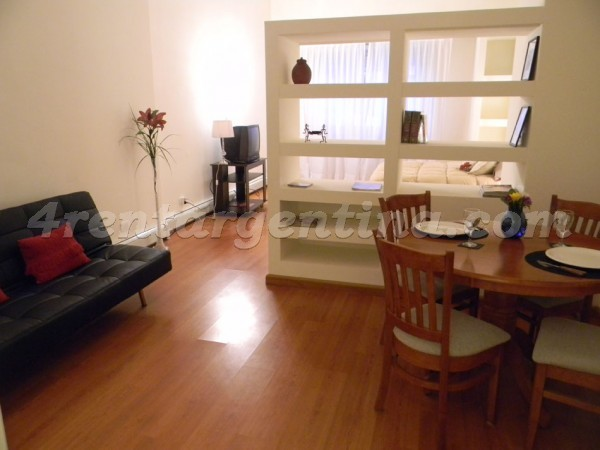 Juncal and Azcuenaga I: Furnished apartment in Recoleta