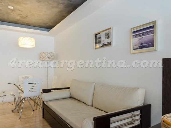 Laprida and Juncal XV: Furnished apartment in Recoleta