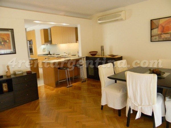 Galileo and Las Heras: Furnished apartment in Recoleta