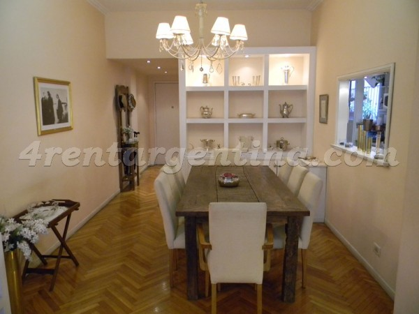 Coronel Diaz and Charcas: Furnished apartment in Palermo