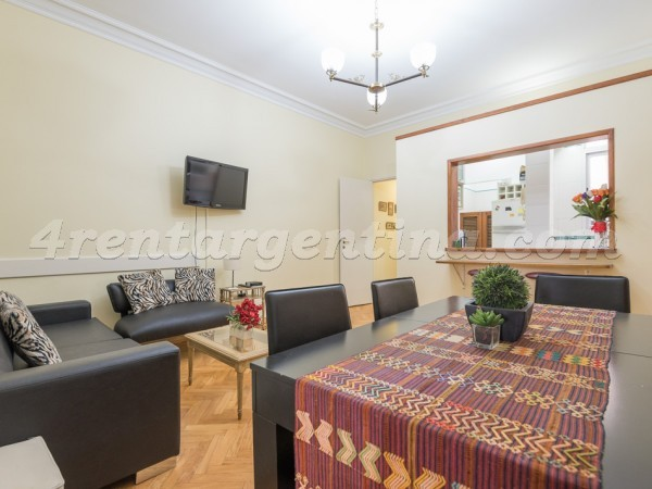 Las Heras and Uriburu III, apartment fully equipped