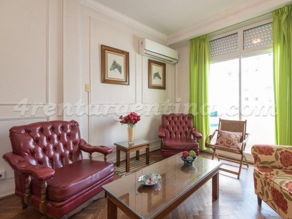 Uriburu and Juncal: Furnished apartment in Recoleta