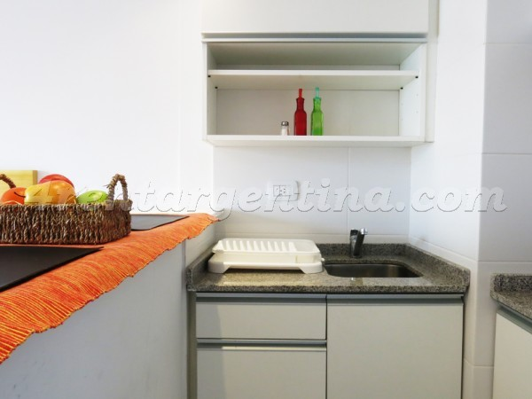 Corrientes and Jean Jaures IX: Furnished apartment in Abasto