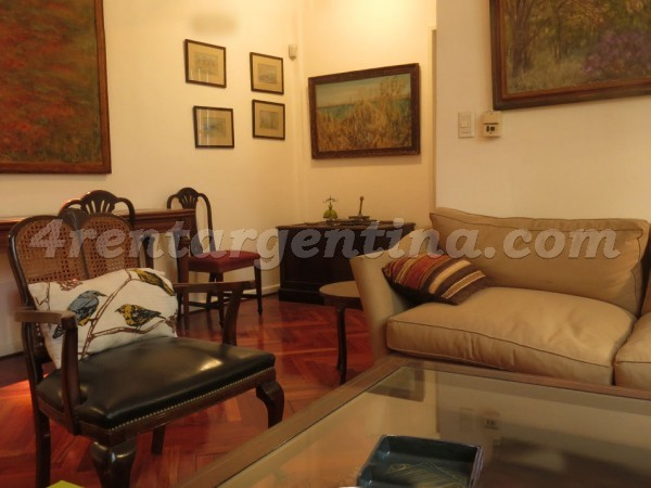 Juncal and Guido: Furnished apartment in Recoleta