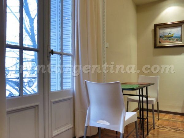 Pueyrredon and Charcas: Furnished apartment in Recoleta