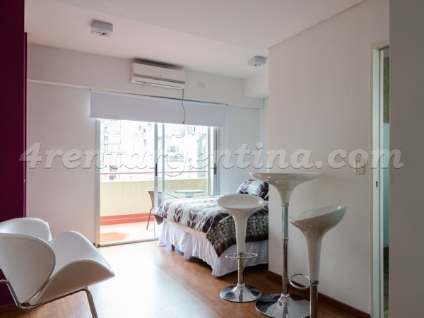 Rodriguez Pe�a and Sarmiento XVII: Furnished apartment in Downtown