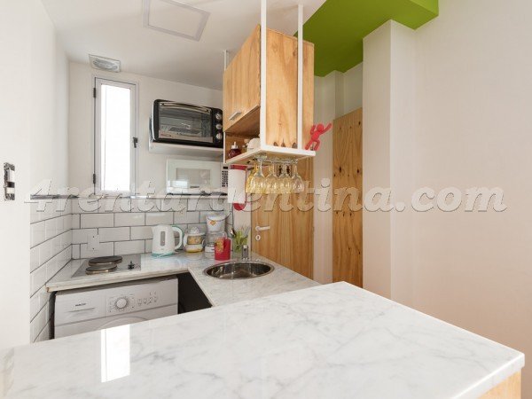 Viamonte and Carlos Pellegrini, apartment fully equipped