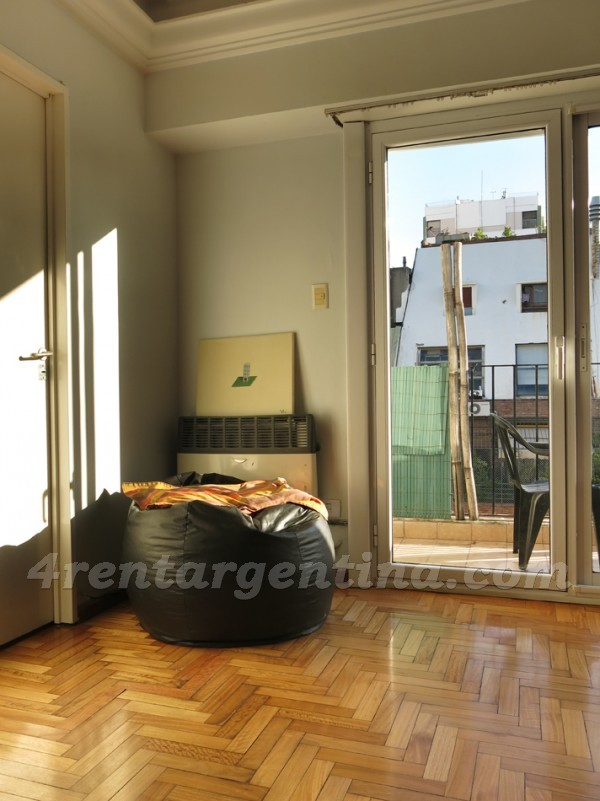 Juncal and Salguero: Furnished apartment in Palermo