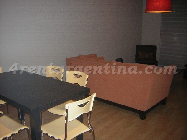 Libertador and Pampa: Furnished apartment in Belgrano